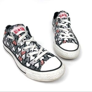 Converse | All Star Heart Print Low Top Sneakers